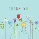 Thank You Flowers Greeting Card - Kali Stileman