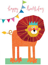 Tiddly Widdlies Lion Greeting Card - Kali Stileman