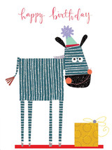 Tiddly Widdlies Zebra Greeting Card - Kali Stileman