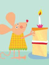 Tiddly Widdlies Mouse Greeting Card - Kali Stileman