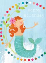 Mermaid Birthday Tiddly Widdlies Greeting Card - Kali Stileman