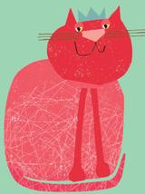 Red Cat Tiddly Widdlies Greeting Card - Kali Stileman