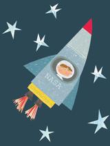 Rocket Man Tiddly Widdlies Greeting Card - Kali Stileman