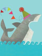Party SharkyTiddly Widdlies Greeting Card - Kali Stileman