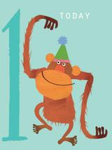 Orangutan Aged 1 Tiddly Widdlies Greeting Card - Kali Stileman