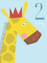 Giraffe Aged 2 Tiddly Widdlies Greeting Card - Kali Stileman