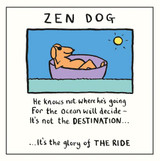 Edward Monkton Zed Dog Greeting Card - Pigment Productions
