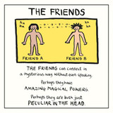 Edward Monkton The Friends  Greeting Card - Pigment Productions