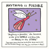 Edward Monkton Anything is Possible Greeting Card - Pigment Productions