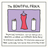 Edward Monkton The Beautiful Frock Greeting Card - Pigment Productions