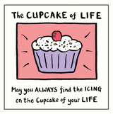 Edward Monkton The Cupcake of Life Greeting Card - Pigment Productions