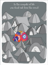 The Campsite of Life Greetings Card - Harolds Planet