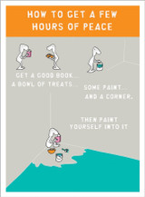A few hours of Peace Greeting Card - Harolds Planet