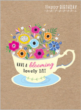 Blooming Lovely Day Greeting card by the Cookie Jar - Abacus Cards
