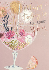 Today is all About You Mum Greeting Card - Louise Tiler