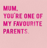 Favourite Parents Mothers Day Card | Redback Cards
