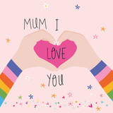 Mum I Love You | Mothers Day Card | Belly Button