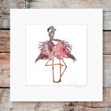 Flamingo Love | Mounted Print | Georgie Woolridge