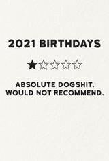 2021 Dog Shit Birthday Card | Redback Cards