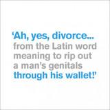 Divorce Funny Birthday Card | Icon Art