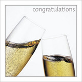Champagne Glasses Congratulations Greeting Card - Icon Art