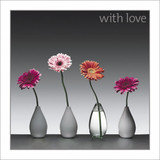 With Love Gerberas Greeting Card - Icon Art