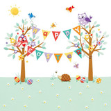 Happy Easter Bunting Easter Card - Mint Publishing