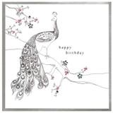 Happy Peacock  Birthday Card - Cinnamon Aitch
