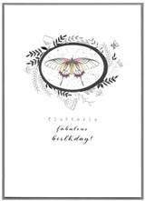 Flutterly Fabulous  Birthday Greeting Card   Cinnammon Aitch