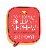 Brilliant Nephew Birthday Card Happy Jackson - Pigment Productions