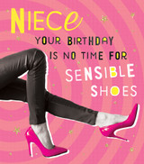 Sensible Shoes Niece Birthday Card - Pigment Productions