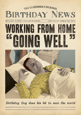 Working from home Funny Birthday Card Fleet Street - Pigment Productions