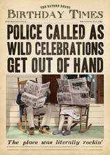 Wild Celebrations Funny Birthday Card Fleet Street - Pigment Productions
