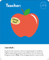 Thank you Teacher  Greeting Card - Mint Publishing