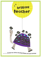 Thank You Brilliant Teacher Greeting Card - Cinnamon Aitch