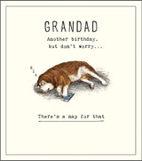 Cool Happy Birthday Grandad Greeting Card Etched - Pigment Productions