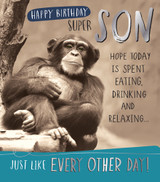 Quirky Cool Birthday card for Son Greeting Card | Pigment Productions