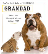 Quirky Funny Birthday card for Grandad Greeting Card | Pigment Productions