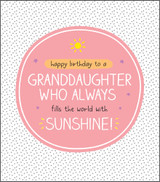 Cool Wonderful Granddaughter Birthday Card Happy Jackson - Pigment Productions