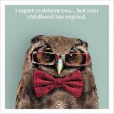 Childhood Expired Funny Birthday Card - Icon Art Company