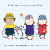Come Cycling Funny Greeting Card - Rosie Made a Thing