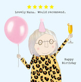 Lovely Nana Funny Greeting Card - Rosie Made a Thing