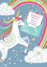 Niece Unicorn Birthday Card - Rachel Ellen