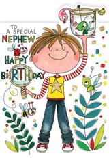 Special Nephew Birthday Cards Kids - Rachel Ellen