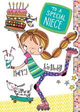 Special Niece Birthday Cards Kids - Rachel Ellen