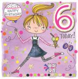 Age 6 Birthday Cards Kids - Rachel Ellen