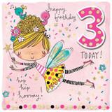 Age 3 Fairy Birthday Cards Kids - Rachel Ellen