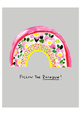 Follow the Rainbow Cool Greeting Card | Paper Salad