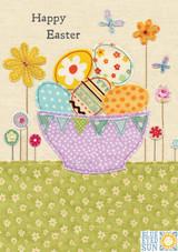 Easter Eggs Basket Greeting Card - Blue Eyed Sun