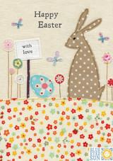 Easter Bunny Greeting Card - Blue Eyed Sun